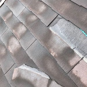 屋根材の塗膜の劣化