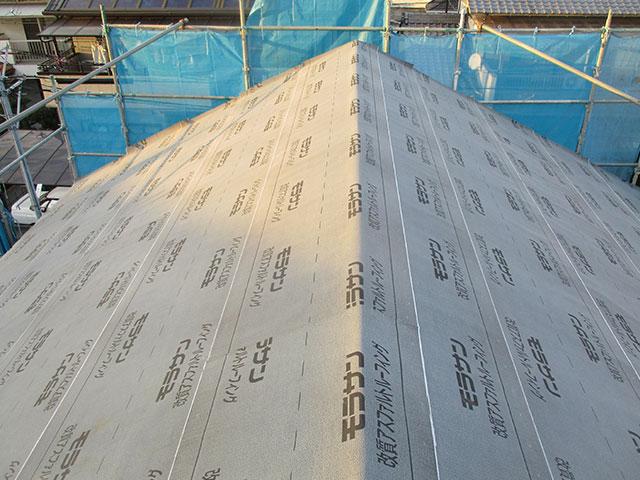 屋根下地防水紙(ルーフィング)について