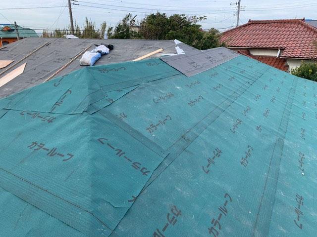 屋根における縁の下の力持ち『防水シート』